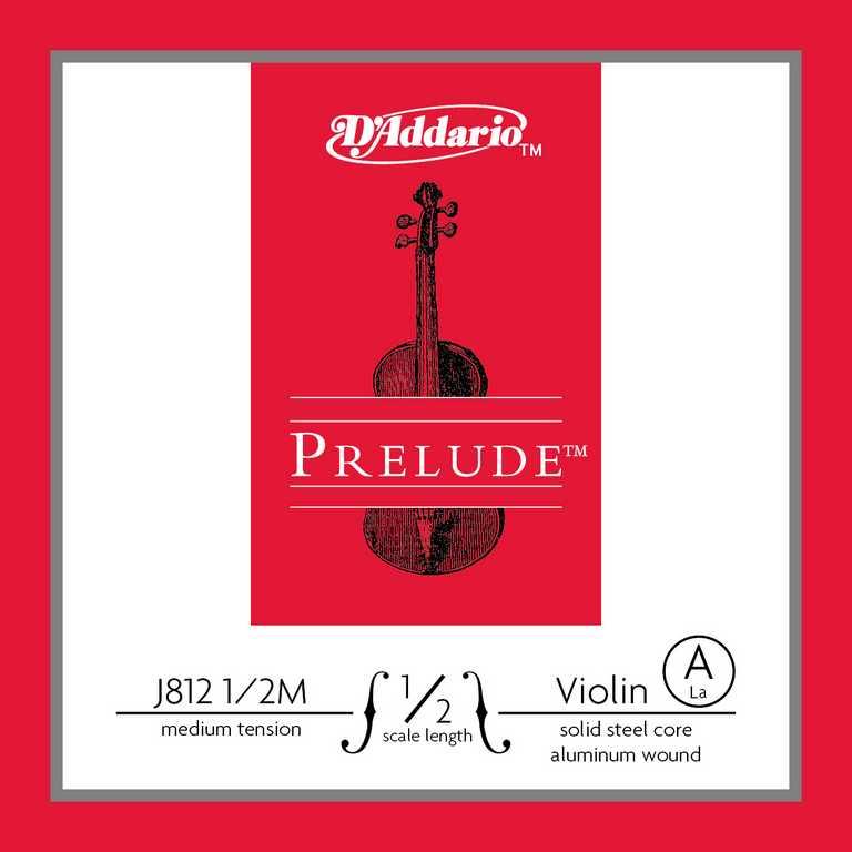 Струна для скрипки D'Addario Prelude A J812- 1/2M-B10